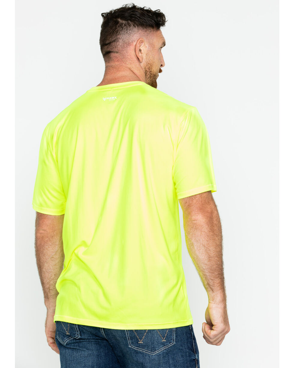 Hawx® Men's Short Sleeve Color-Enhanced Cooling Work Tee , Yellow, hi-res