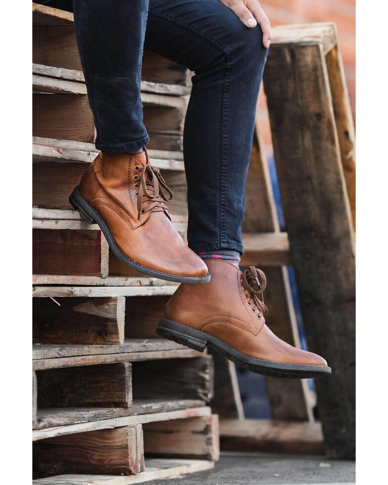 Evolutions Men's Tan Proff Lace-Up Boots - Round Toe, Tan, hi-res