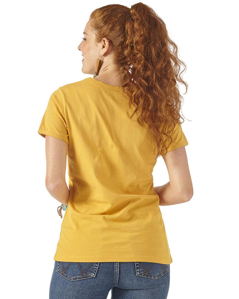 Wrangler Retro Women's Mustard Rebel Spirit Moto Tee, Dark Yellow, hi-res