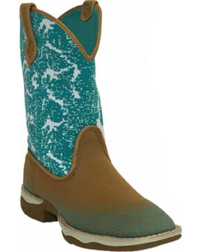 Laredo Women's Daydreamer Woven Western Boots - Square Toe , Tan, hi-res