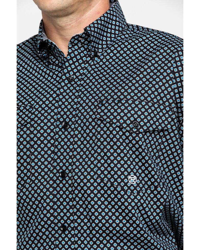 Roper Men's Amarillo North Foulard Geo Print Long Sleeve Western Shirt , Blue, hi-res
