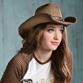 Bullhide Cheyenne Wool Cowgirl Hat, Sand, hi-res