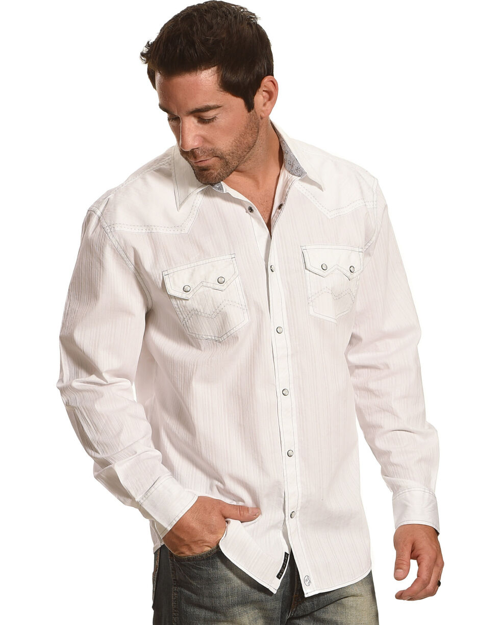 Moonshine Spirit Men's Everclear Solid Long Sleeve Shirt , White, hi-res