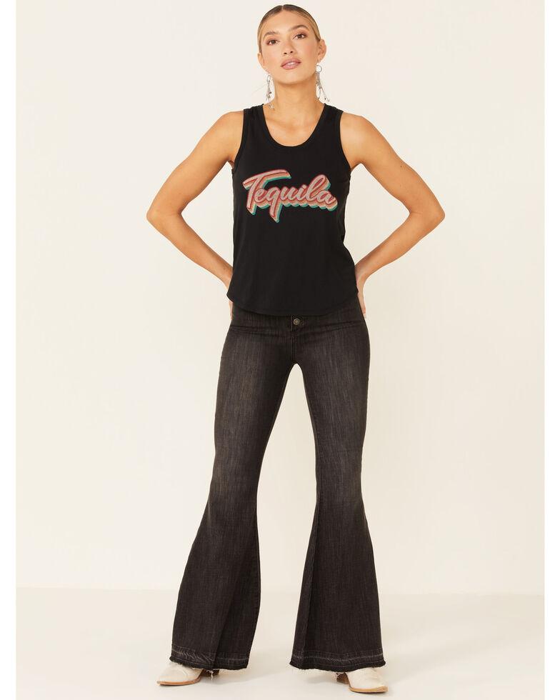 Rock & Roll Denim Women's Tequila Signature Graphic Tank Top , Black, hi-res