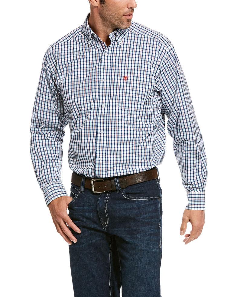 Ariat Men's Rockwood Plaid Long Sleeve Western Shirt - Tall, Multi, hi-res