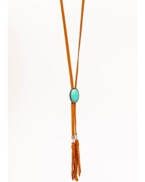 Idyllwind Women's Indian Summer Double Suede and Turquoise Necklace, Brown, hi-res