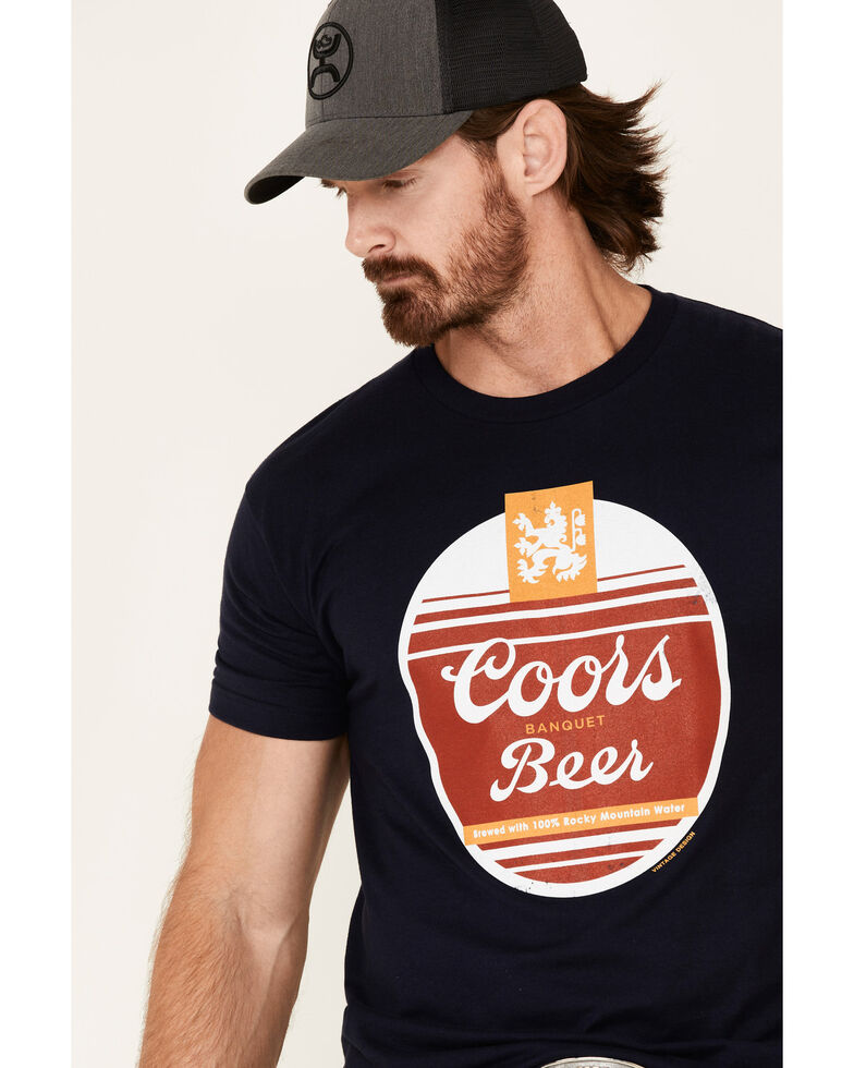 Brew City Beer Gear Men's Navy Coors Oval Graphic T-Shirt , Navy, hi-res