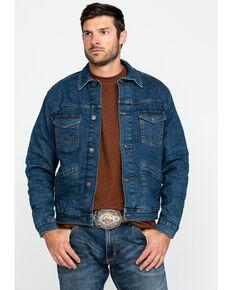 Wrangler Retro Men's Dark Vintage Sherpa Lined Denim Jacket , Dark Blue, hi-res