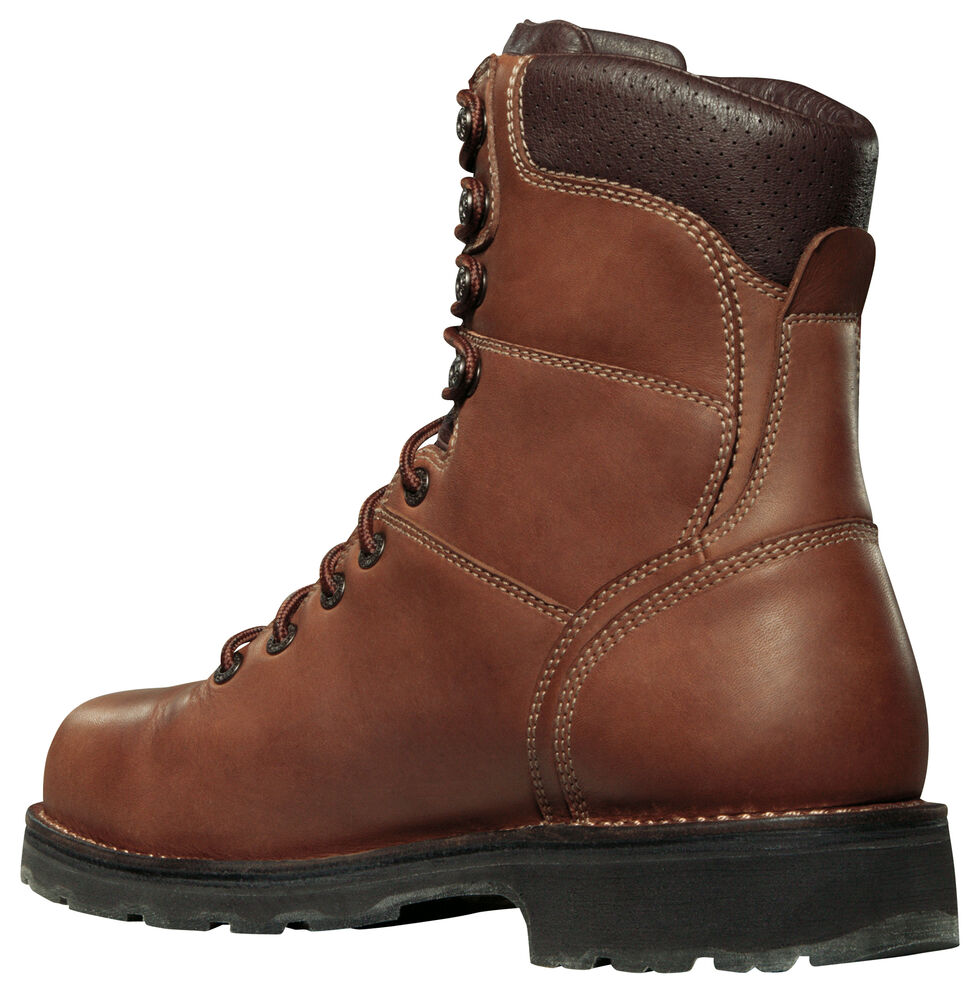 "Danner Workman GTX 8"" Waterproof Work Boots - Alloy Toe, Brown, hi-res"