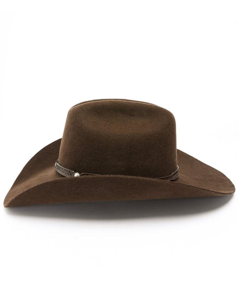 Cody James Boys' Rambler Shovel Cowboy Hat, Brown, hi-res