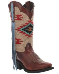 Laredo Women's Bailey Western Boots - Snip Toe, Cognac, hi-res