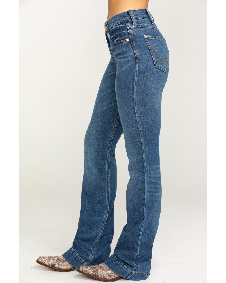 Wrangler Modern Women's Heritage Midtown Exaggerated Boot Jeans, Medium Blue, hi-res