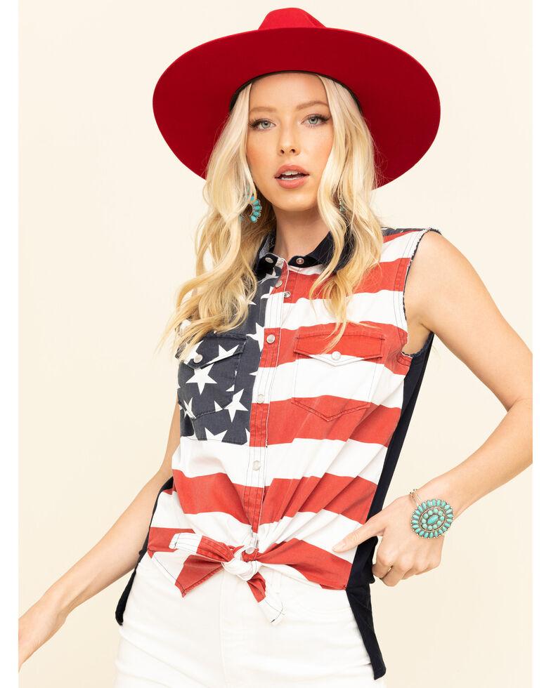 Shyanne Life Women's Americana Bubba Family Shirt , Navy, hi-res