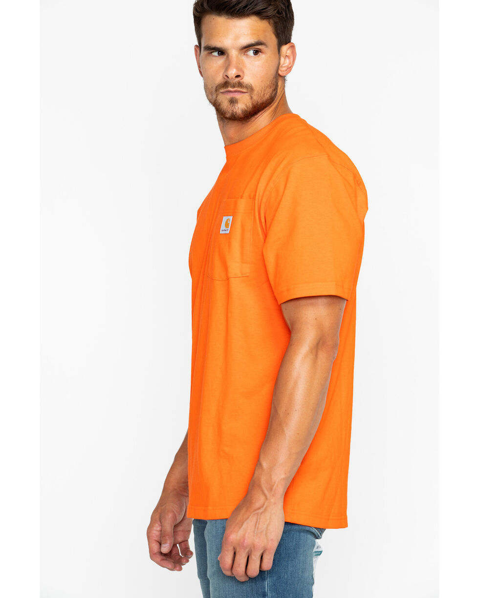 Carhartt Men's Orange Workwear Pocket Short Sleeve T-Shirt, Heather Orange, hi-res