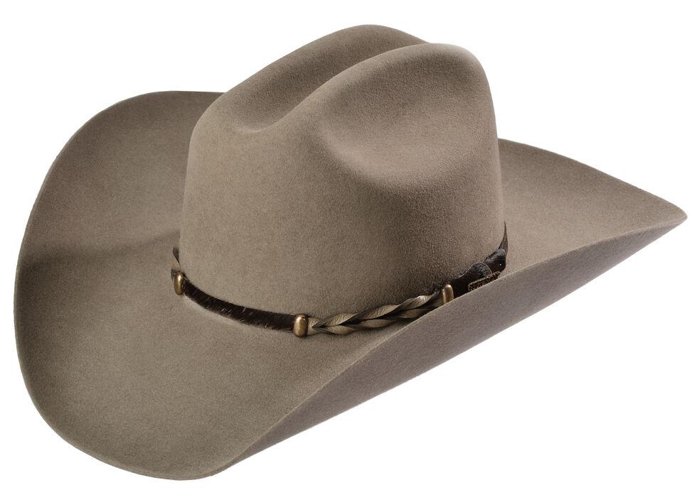 Stetson Stone Portage 4X Buffalo Felt Cowboy Hat, Stone, hi-res