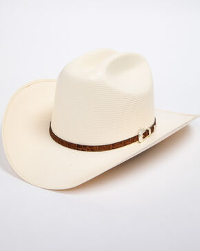 Cody James Men's Panama Faux Gator Cognac Marlboro Cowboy Hat, Natural, hi-res