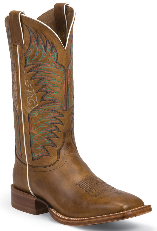 Justin Sierra Tan Stampede CPX Cowboy Boots - Square Toe , Tan, hi-res