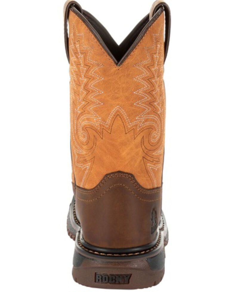 Rocky Boys' Ride FLX Brown Western Boots - Square Toe, Brown, hi-res