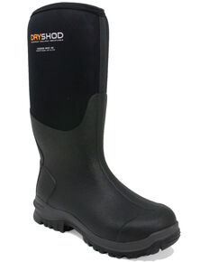 Dryshod Men's Legend MXT Rubber Boots - Round Toe, Black, hi-res