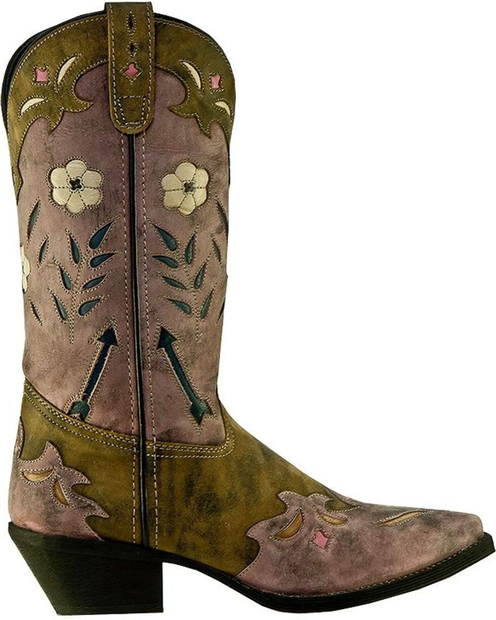 Laredo Miss Kate Cowgirl Boots - Snip Toe, Distressed, hi-res
