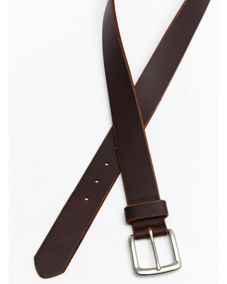 Hawx® Men's Beveled Edge Work Belt, Brown, hi-res