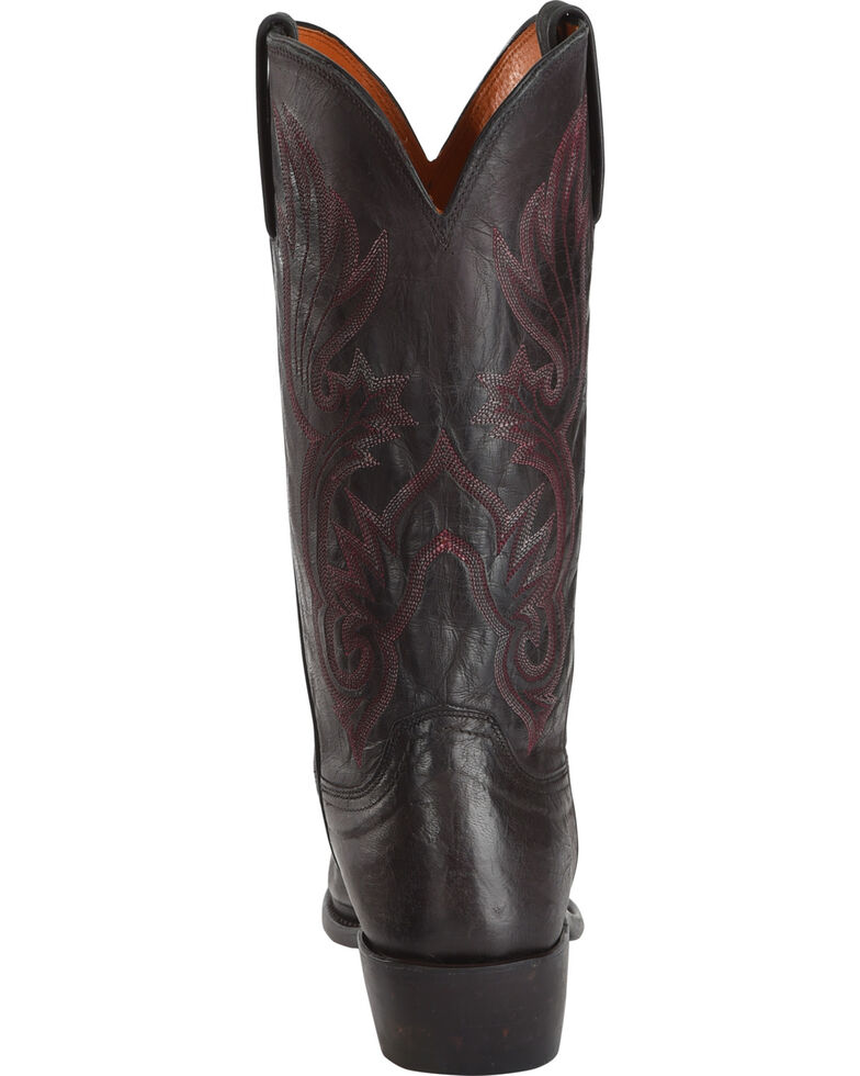 Lucchese Men's Handmade Whittaker Antique Bordeaux Mad Dog Goat Western Boots - Snip Toe, , hi-res