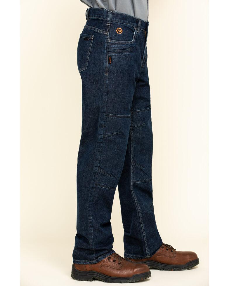 Hawx Men's FR Denim Straight Work Jeans , Indigo, hi-res