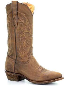 Corral Men's Roderick Western Boots - Round Toe, Gold, hi-res