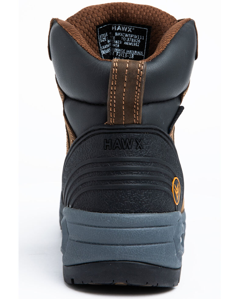 Hawx Men's Crew Chief Waterproof Work Boots - Composite Toe, Dark Brown, hi-res