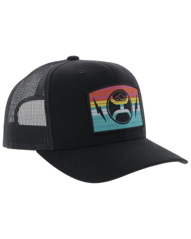 Hooey Boys' Black San Lucas Youth Mesh Ball Cap , Black, hi-res