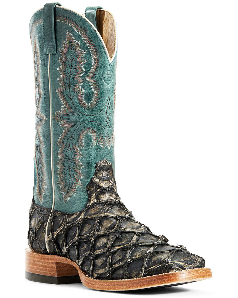 Ariat Men's Deep Water Big Bass Western Boots - Wide Square Toe, Brown, hi-res