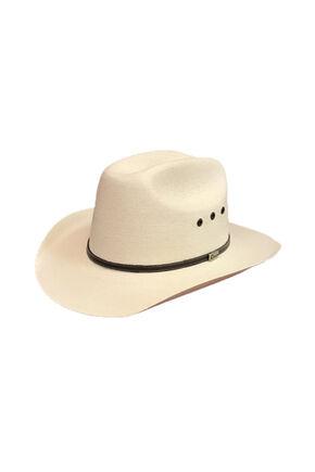 Atwood Men's 7x Austin Low Crown Palm Leaf Cowboy Hat, Natural, hi-res