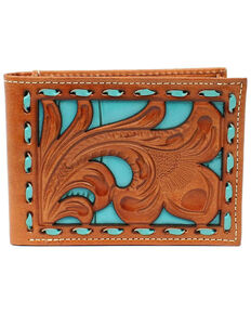 Nocona Men's Embossed Bi-Fold Wallet, Tan, hi-res