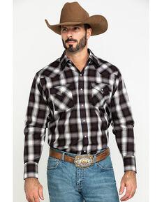 Ely Cattleman Men's Assorted Multi Dobby Large Plaid Long Sleeve Western Shirt , Multi, hi-res