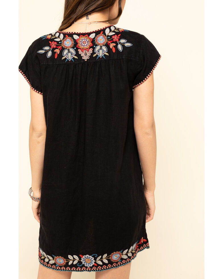 Johnny Was Women's Black Embroidered Maisie Dress, Black, hi-res
