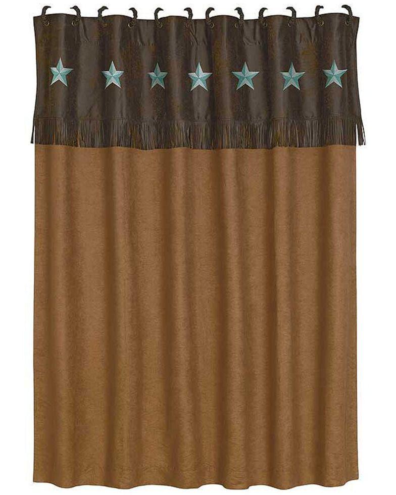 HiEnd Accents Turquoise Laredo Shower Curtain, Multi, hi-res