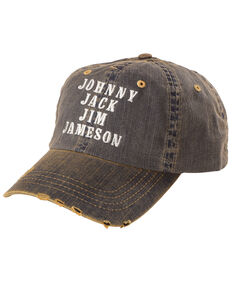 Cody James Men's Johnny Jack Jameson Denim Ball Cap , Navy, hi-res