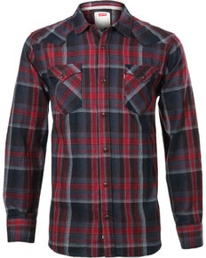 873060427992 Levi s Men s Long Sleeve Flannel Plaid Shirt