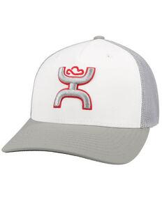HOOey Men's White Coach Mesh Flex Fit Ball Cap , White, hi-res