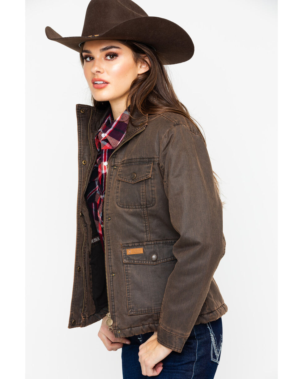 Outback Trading Co. Women's Kempsey Zip Front Jacket , Brown, hi-res