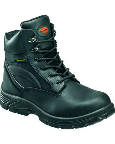 """Avenger Men's Waterproof 6"""" Lace-Up Work Boots - Round Toe, Black, hi-res"""