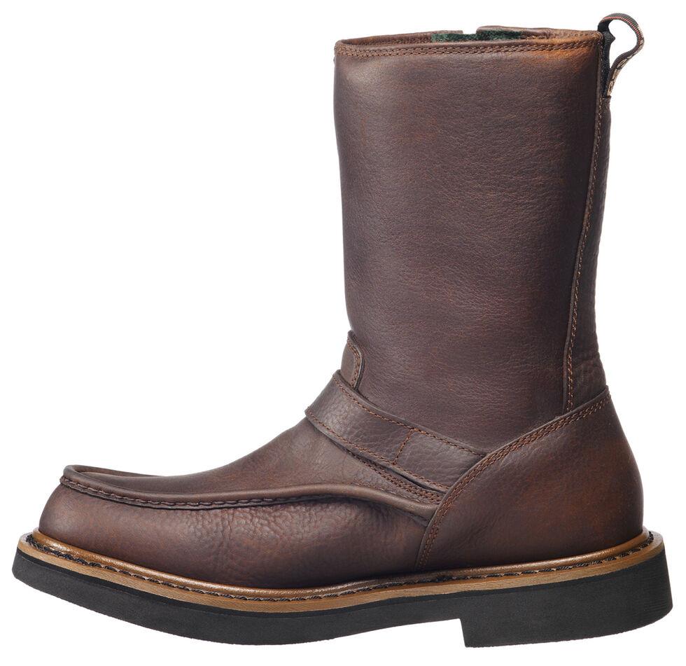 Georgia Side Zip Waterproof Wellington Work Boots - Round Toe, Copper, hi-res