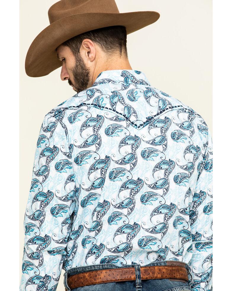 Cody James Men's Lovelace Large Paisley Print Long Sleeve Western Shirt , White, hi-res