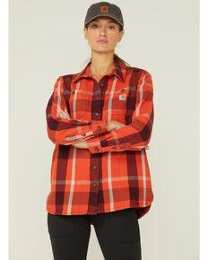 Carhartt Women's Plaid Button-Down Flannel Shacket, , hi-res