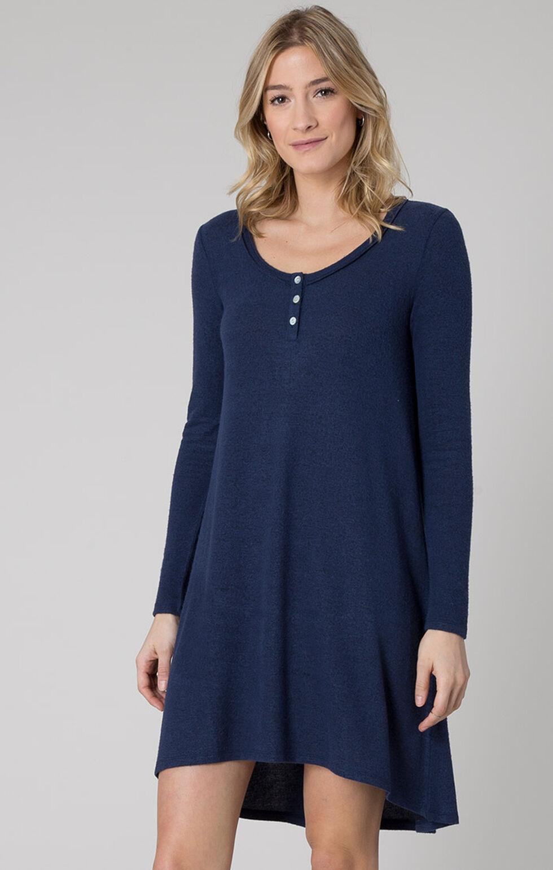 Z Supply Women's Black Iris Marled Navy Sweater Dress , Black, hi-res