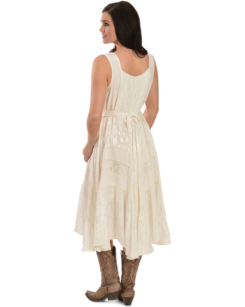 Scully Women's Lace-Up Jacquard Dress, Ivory, hi-res