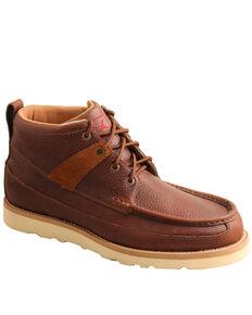 Twisted X Men's Brown Wedge Work Boots - Steel Toe, Brown, hi-res