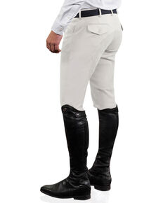 Ovation Men's Euroweave Four Pocket Full Seat DX Breeches, White, hi-res