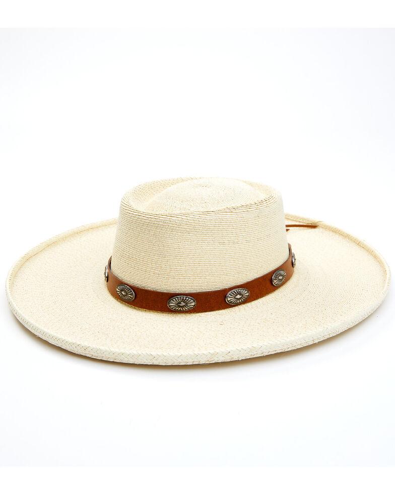 Idyllwind Women's Sunset Rider Palm Leaf Straw Western Hat , Cream, hi-res