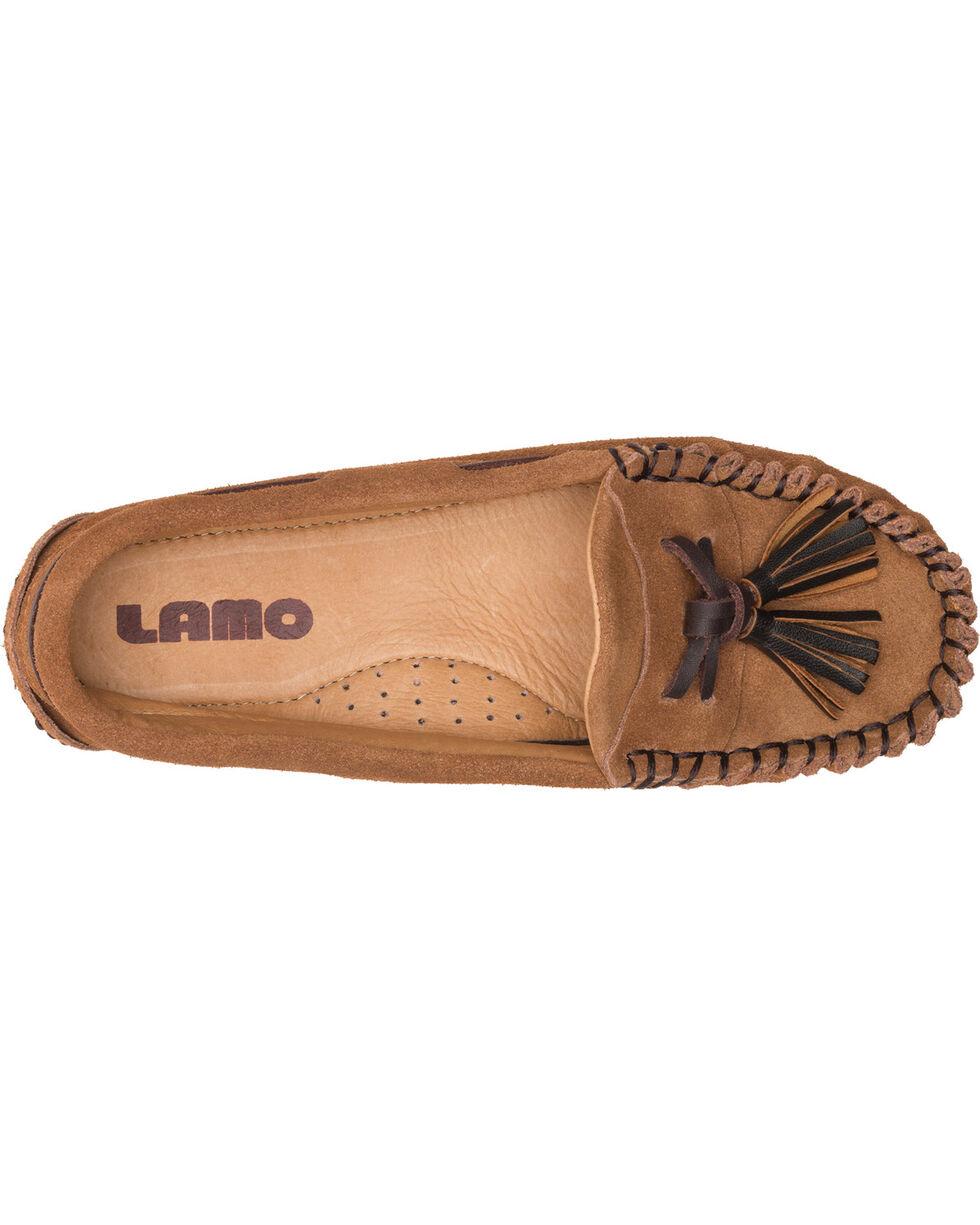 Lamo Women's Leah Tasseled Moccasins , Chestnut, hi-res